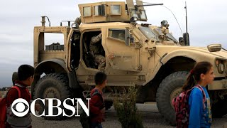 U.S. troop withdrawal from Syria gets underway