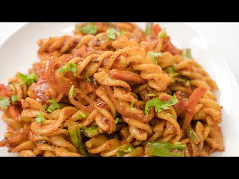 Red Sauce Pasta Recipe | Indian Style Red Sauce Pasta / Kids Lunch Box Recipes