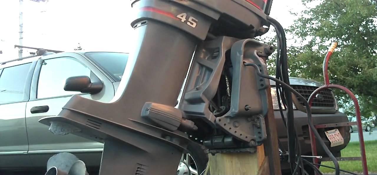 1989 45 Hp Mariner W Power Trim 135 Psi Starts Runs