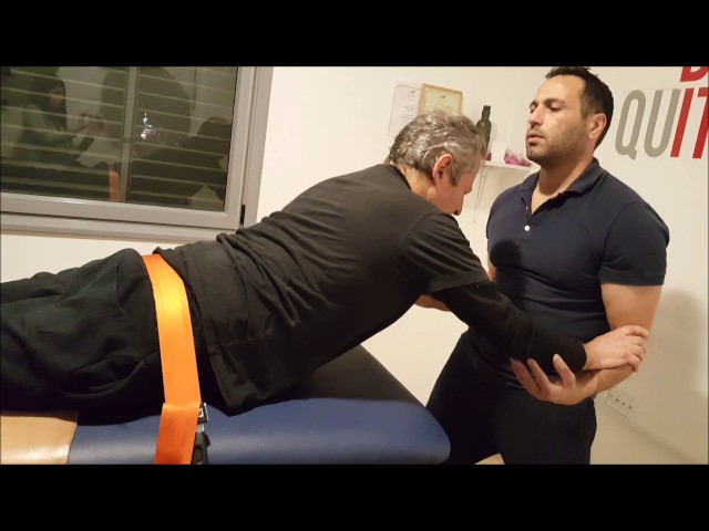 גב תחתון - lower back drill for a paraplegic patient