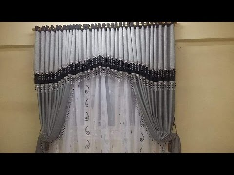 How To Make Swags And Tails Curtains Triangle Part 1