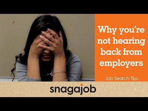 Job Search Tips (Part 5): Why you're not hearing back from employers