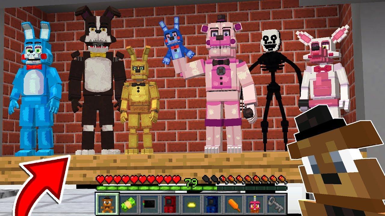 Minecraft FNAF WORLD MOD | PUPPET, BONNIE, CHICA, FOXY & MORE!!