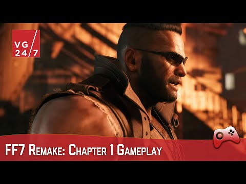 FF7 Remake Gameplay: Complete Mako Reactor Mission