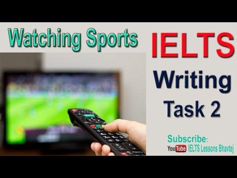 IELTS Writing Task 2 Watching Sports Opinion Essay India & Pakistan June 2016