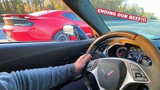 BACK WHERE IT ALL STARTED... 1,000HP TWIN TURBO ZL1 VS MY 1,000HP ZR1!!! *ENDING Our 2 Year Beef*