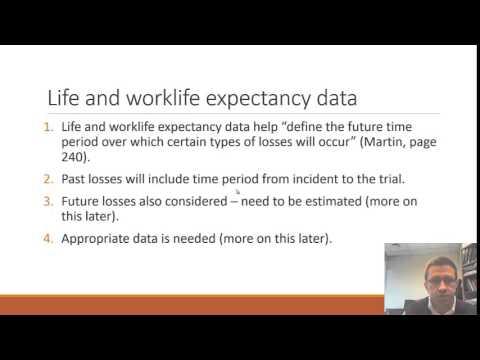 Forensic Economics - data needed