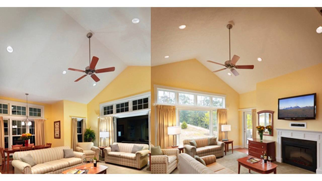Living room recessed lighting ideas - YouTube