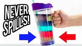 EXPERIMENT: Testing the Unspillable Cup! NEVER SPILLS!