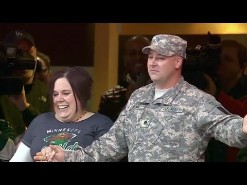Surprise Homecoming at Xcel Energy Center