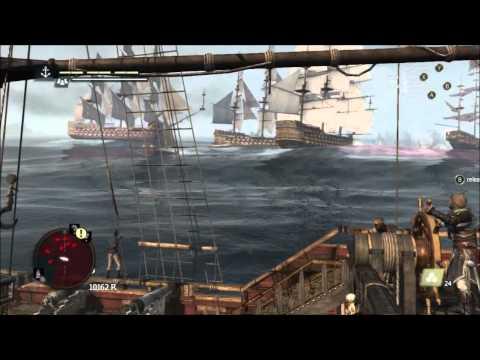 AC 4: Black Flag - Massive Random Spanish Vs British Naval Battle, With Frigates And Man O' Wars!