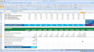 DCF, Discounted Cash Flow Valuation in Excel Video