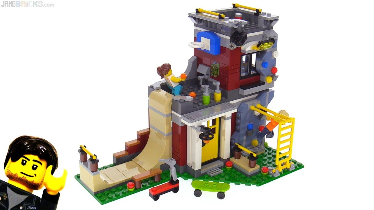 Lego Creator 3 In 1 Modular Skate House Review 31081 Youtube