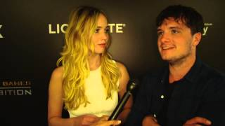 Jennifer Lawrence & Josh Hutcherson Interview - The Hunger Games Exhibition [HD]