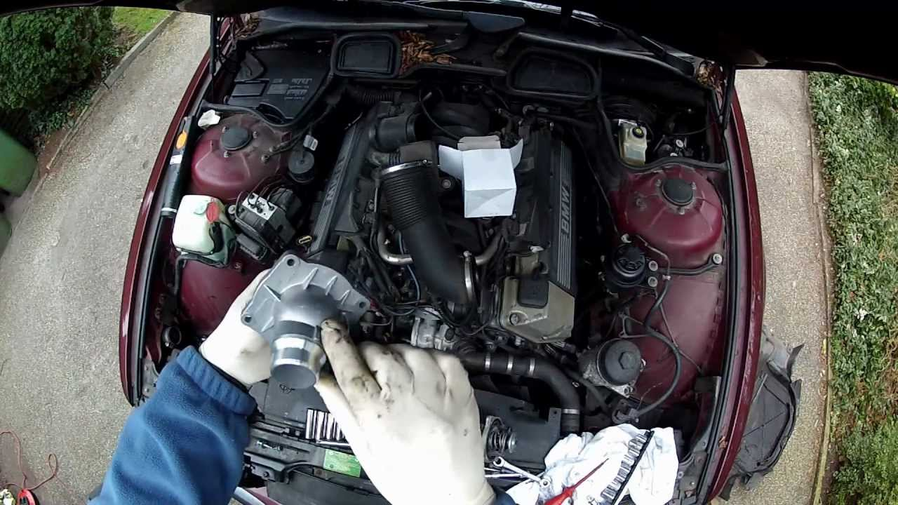 medium resolution of bmw e38 e39 thermostat replacement diy m60 m62 m62 tu engines youtube