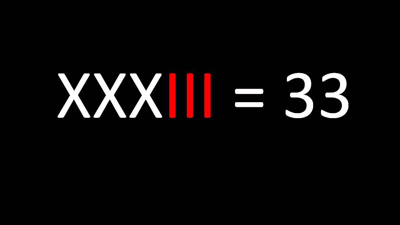 Roman Numerals 30 50 Youtube