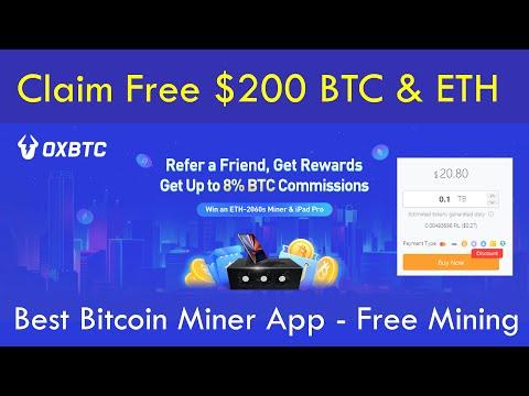 OXBTC - Top Level Cloud Mining Platform 2021 - Claim Free $200 BTC U0026 ETH Live Proof - Best BTC Miner