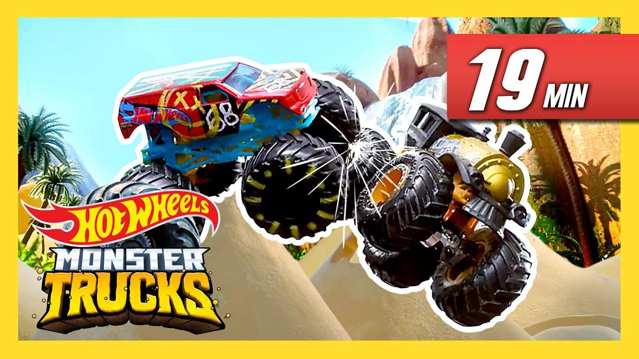 Best Of Monster Trucks Island Monster Trucks Island Hot Wheels Youtube