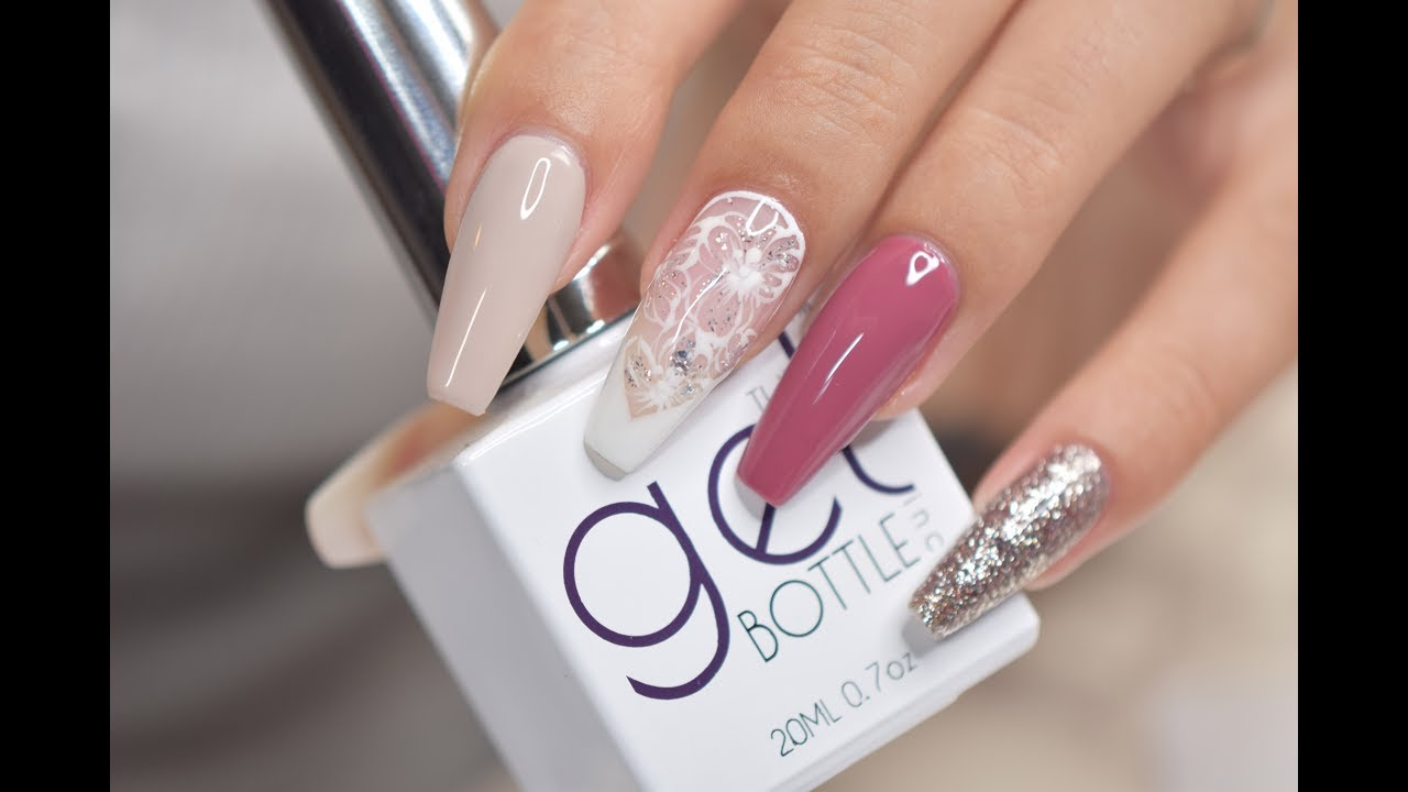 Flower Lays Nail Art With Gel Bottle Products April Ryan Red