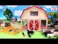 Fun Farm Animals and Barn Toys For Kids -  Learn Animal Names