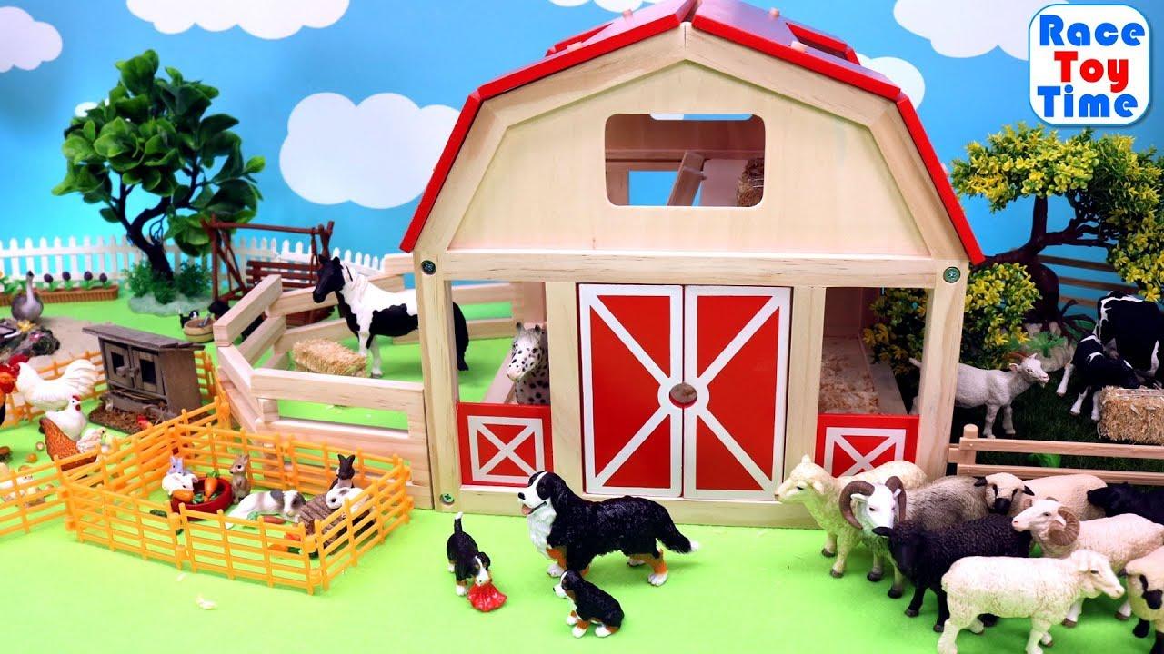 Fun Farm Animals and Barn Toys For Kids - Learn Animal ...