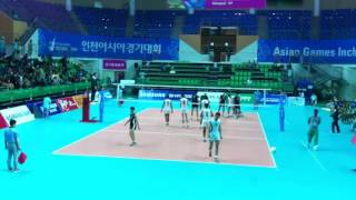 Pakistan Vs Turkmenistan Volleyball Match In South Korea 2014 Asian Game