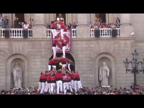 Catalan Castell Human Towers in Barcelona, Catalonia, Spain