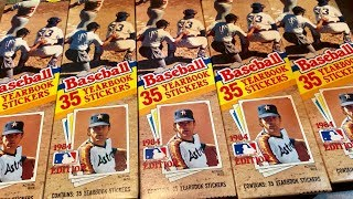 I BOUGHT EVERY BOX OF 1984 TOPPS BASEBALL STICKERS AT A FLEA MARKET