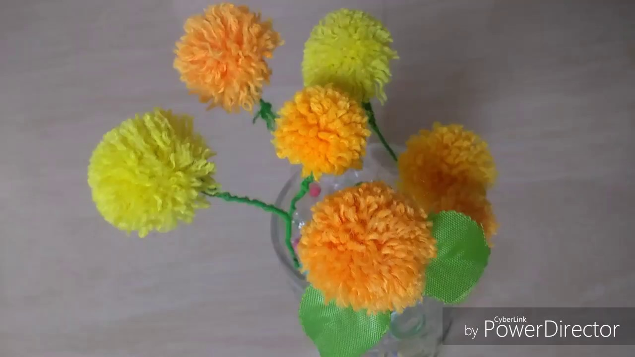 Woolen Thread Craft Woolen Flowers Making Woolen Design
