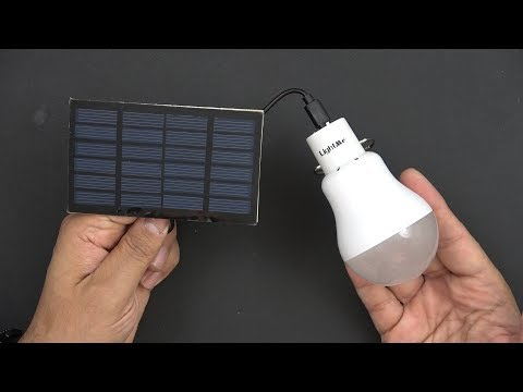 Portable 15W 130LM Solar Powered Led Bulb, For Earthquake & Emergency Kit / Camping / Power Outage