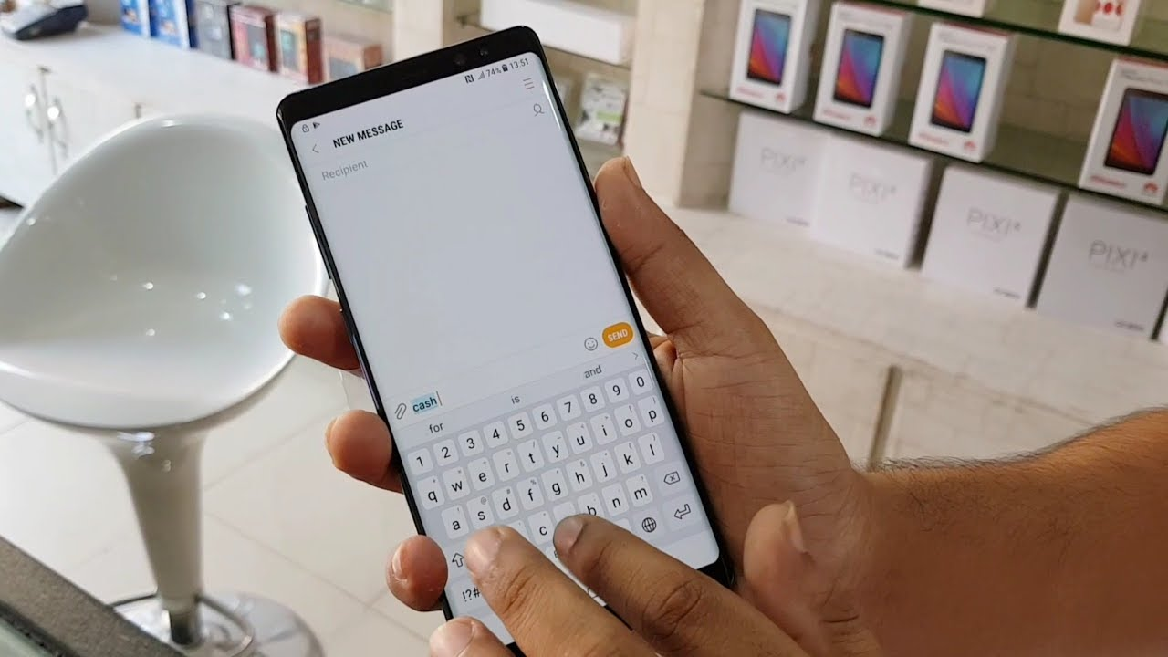how to change keybourad on note 8