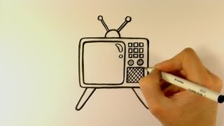 How to Draw a Cartoon Retro Television