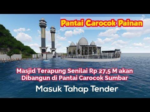 masjid-terapung-senilai-rp-27,5-m-akan-dibangun-di-pantai-carocok-sumbar,-masuk-tahap-tender