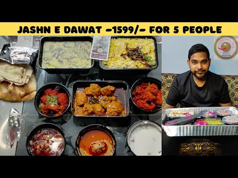 Wedding Food for 5 People at 1599/- | Jashn E Dawat by Naaz Anjum | Best Non Veg Food In Hyderabad