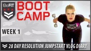 28 Day Resolution Jumpstart Workout Diary with Michelle Glavan: Week 1 - BeFit Bootcamp