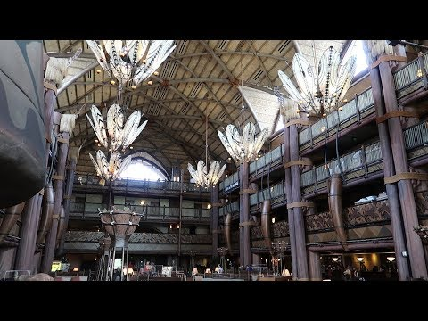 Disney's Animal Kingdom Lodge Resort Tour | Hotel Grounds, DVC, Pools, Food Locations & Animals!