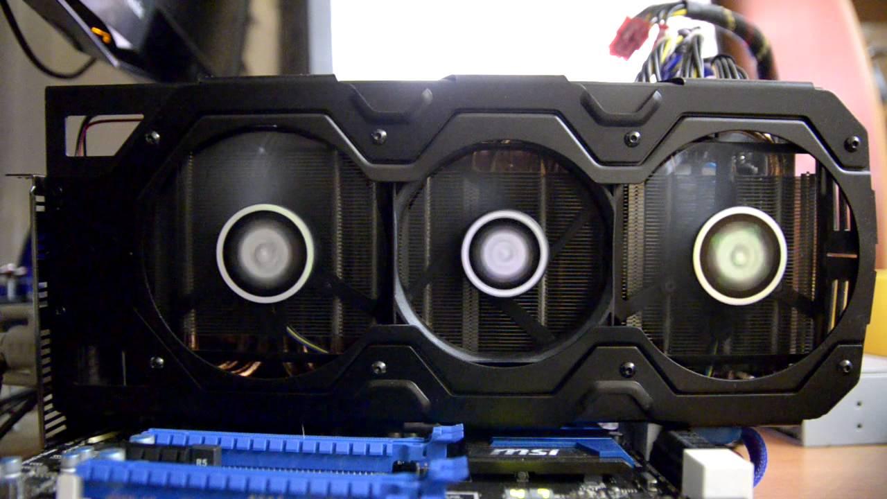 PowerColor HD 7990 Fan noise test - YouTube