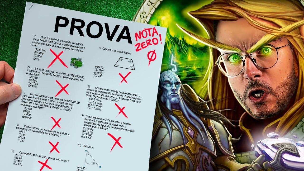 MMO me fez REPETIR na ESCOLA? World of Warcraft Burning Crusade