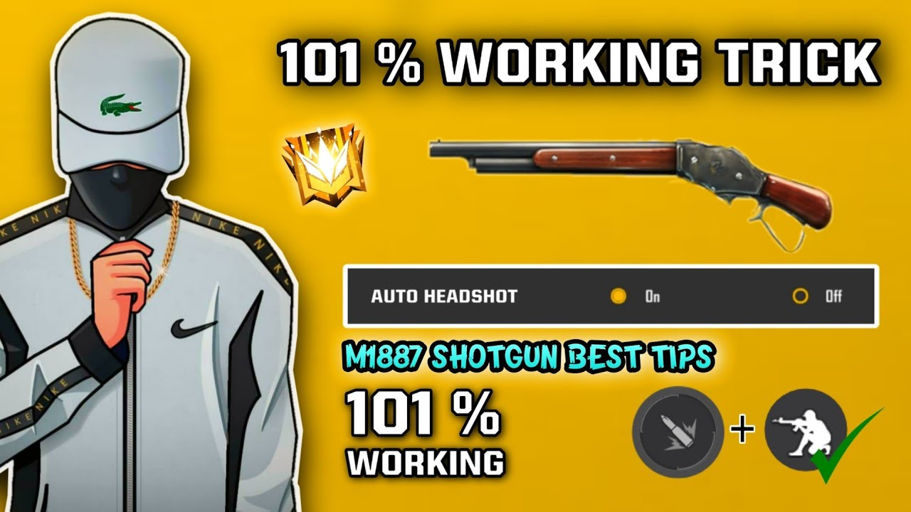 Top Best One-Tap / One Shot Tips & Tricks | How to use M1887 Tips - M1887 चालना सिख [Hindi Tutorial]