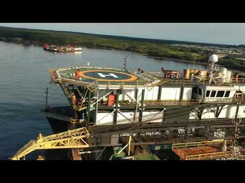 Pipe laying barge after renewing from A to z