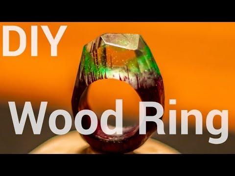 DIY Wood and Resin Rings