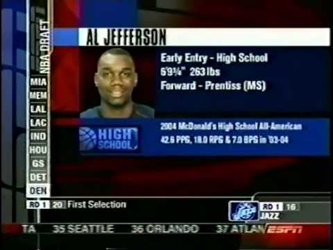 Al Jefferson - 2004 NBA Draft - Pick  15 - YouTube b85db8c44