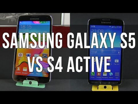 Samsung Galaxy S5 vs Galaxy S4 Active comparison