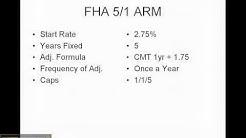 FHA 5/1 ARM vs FHA Fixed