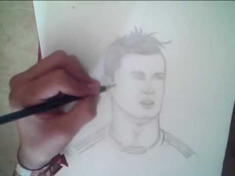 dibujando a cristiano ronaldo 2013   youtube