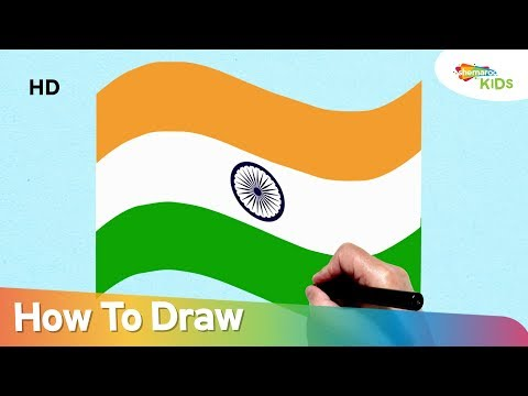 Independence Day Special How To Draw Indian Flag Easy Step By Step Drawing For Children
