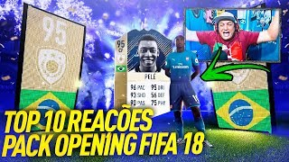 ICON PELÉ 95 E MESSI TOTY 98 👑 TOP 10 REAÇÕES PACK OPENING FIFA 18 ULTIMATE TEAM, #01