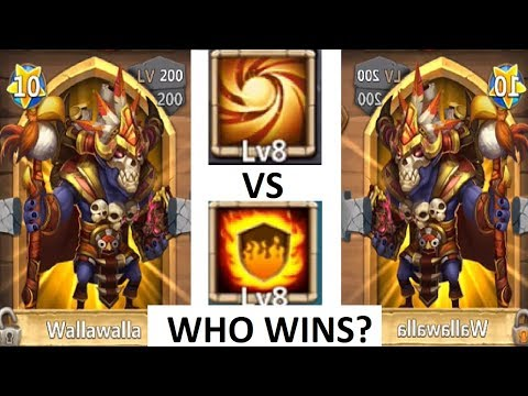 Walla VS Walla Flame Guard VS Sacred Light WHO WINS Castle Clash