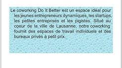 Bureau À Louer Lausanne | Better Coworking