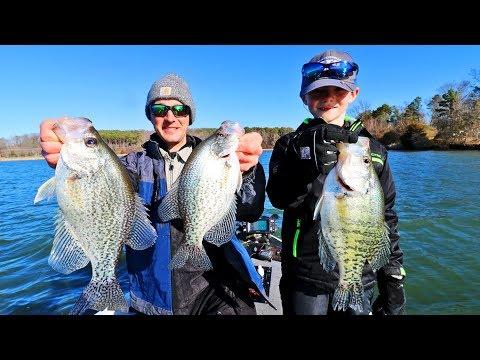 CRAPPIE Fishing BLUFF WALLS! (Lake Guntersville)
